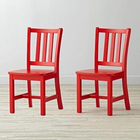 детский стул красный
