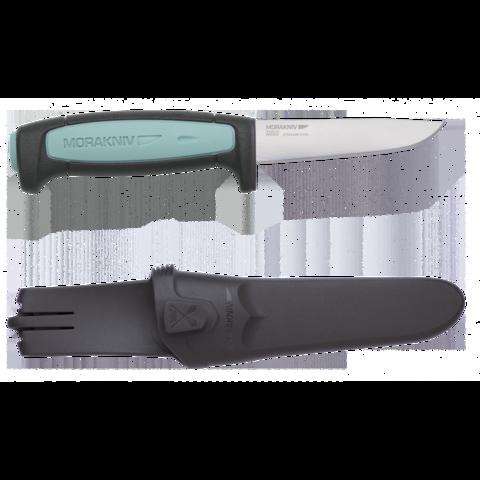 Нож Morakniv Flex, нержавеющая сталь, черный/голубой