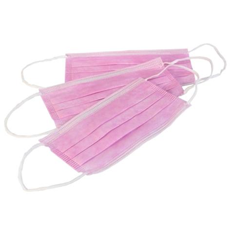 Маска медицинская розовая 3-х слойная 1 шт.
