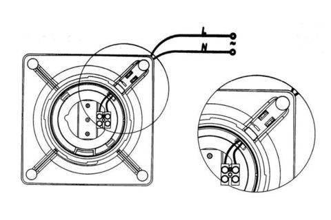 Накладной вентилятор Cata E 120 G + обратный клапан