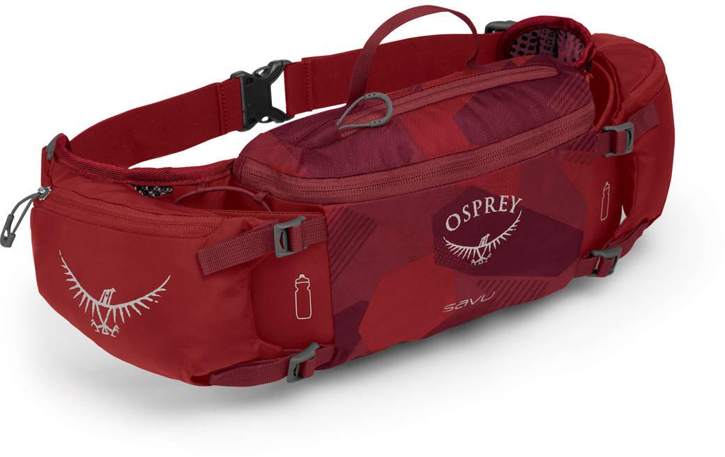 Сумки для бега Сумка поясная Osprey Savu 4 Molten Red Savu_S19_Side_Molten_Red_web.jpg