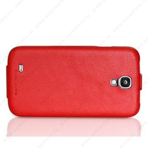 Чехол-флип HOCO для Samsung Galaxy S4 i9500/ i9505 - HOCO Duke flip Leather Case Red