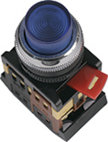 Кнопка ABLFP-22 желтый d22мм неон/230В 1з+1р TDM