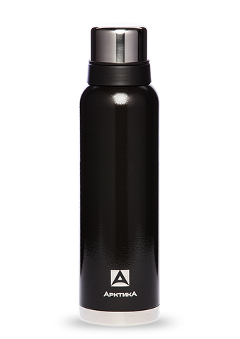 Термос Арктика (1,6 литра) с узким горлом американский дизайн, черный