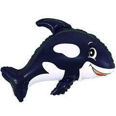 F Мини-фигура Дружелюбный кит (черный) 14