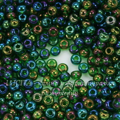 51060 Бисер 6/0 Preciosa прозрачный радужно-зеленый