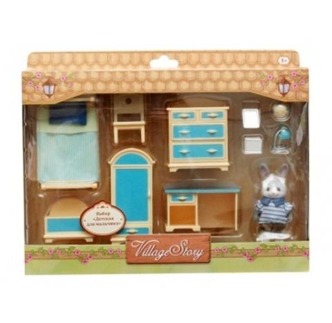 Игрушечная мебель для спальни мальчика Village Story VS_204
