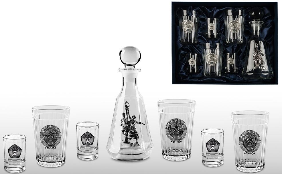 Подарочный набор для водки «Гранёный-2» недорго, оригинальная цена