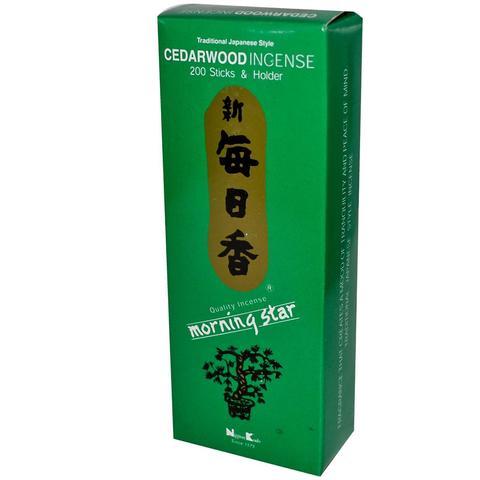 Японские благовония Morning Star Cedarwood 200 шт