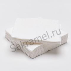 Салфетки (Спанлейс, белый, 20х20 см, 100 шт/упк, стандарт)