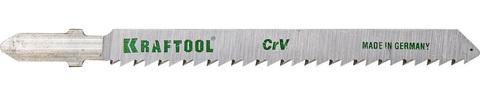 Полотна KRAFTOOL, T101B, для эл/лобзика, Cr-V, по дереву, ДСП, ДВП, чистый рез, EU-хвост., шаг 2,5мм, 75мм, 2шт