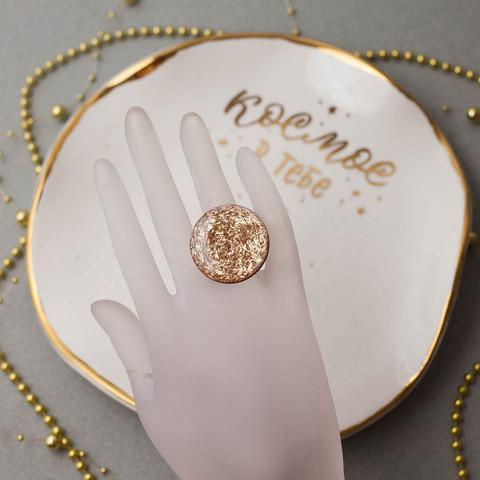 Кольцо круг золото