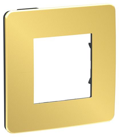 Рамка на 1 пост. Цвет Золото/антрацит. Schneider Electric Unica Studio. NU280262