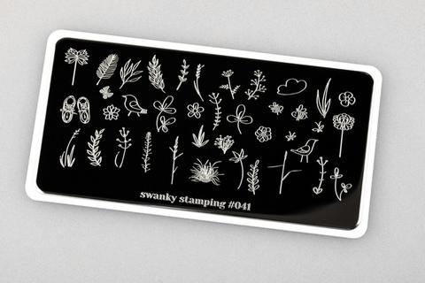 Пластина Swanky Stamping №41