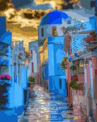 Санторини- раскраски по номерам