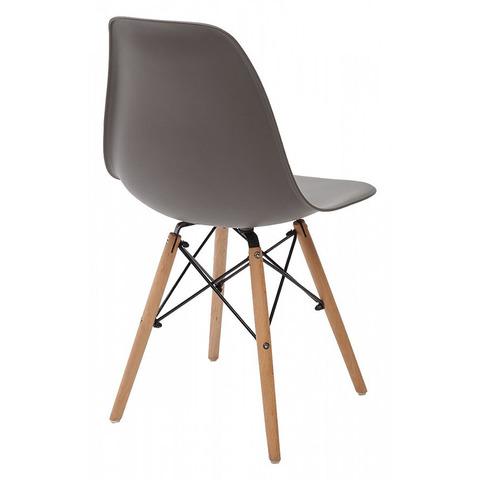 Стул NUDE Темно-серый / ножки дерево / сиденье пластик