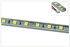 Жесткая светодиодная линейка в алюминиевом кейсе MTF Light 5G2B450WW 50 см (белый 5000К)