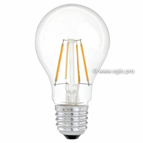 Лампа LED филаментная прозрачная Eglo CLEAR LM-LED-E27 4W 350Lm 2700K A60 11491