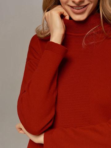 Женское платье красного цвета из шерсти и кашемира - фото 3