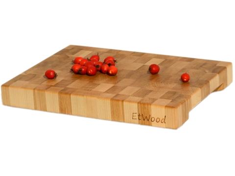 деревянная Торцевая разделочная доска 30x20x3 см. клен