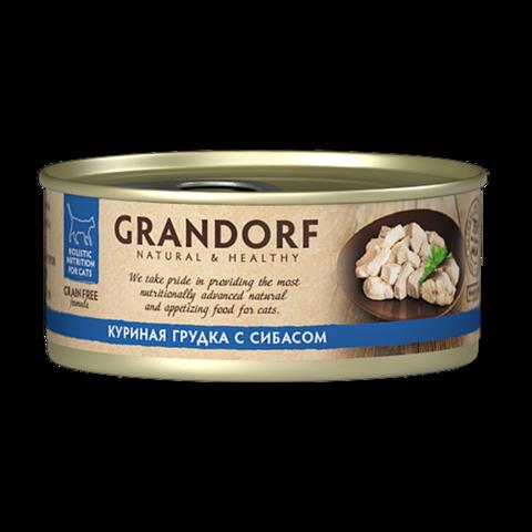 Grandorf Chicken with Seabass in Broth Консервы для кошек Куриная грудка с сибасом