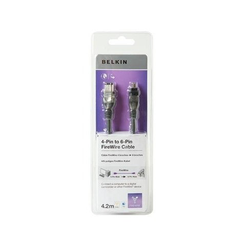 Belkin 4-pin to 6-Pin FireWire Cable 1.8m