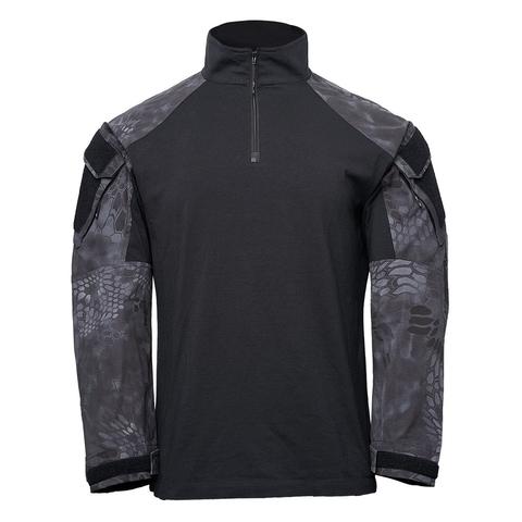 Толстовка KRYPTEK Tactical  молния длинные рукава Black/Typhon™