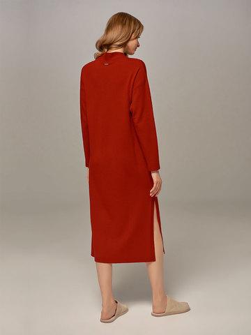 Женское платье красного цвета из шерсти и кашемира - фото 4