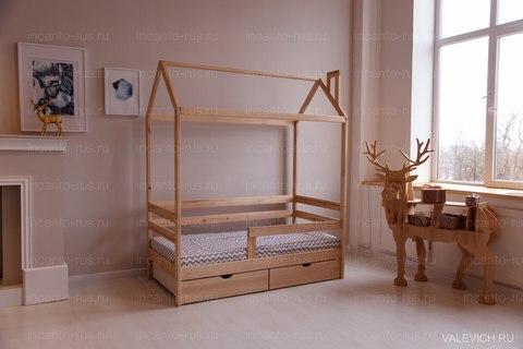 Кроватка-домик Incanto «Dream HomeKarelian pine » с ящиками, цвет натуральный