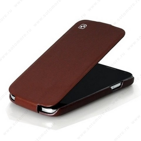 Чехол-флип HOCO для Samsung Galaxy S4 i9500/ i9505 - HOCO Duke flip Leather Case Brown