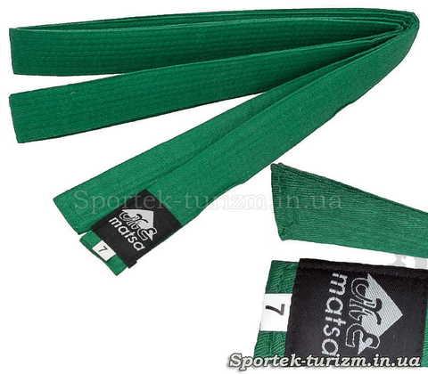 Зелений пояс Matsa 280 см для кімоно