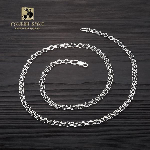 крупная цепь серебро плетение Ручей.