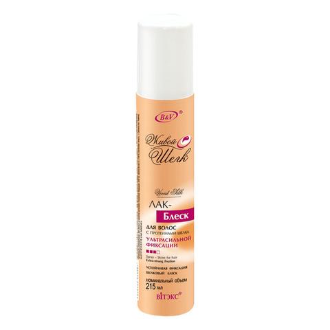 Витэкс Живой шелк Лак – блеск для волос с протеинами шёлка ультрасильной фиксации 215 мл