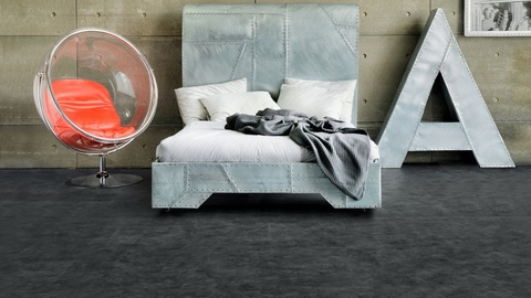 Виниловая плитка ПВХ  Alpine Floor Grand Stone Скол Обсидиана ECO 8-4