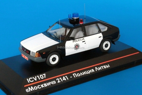 Moskvich-2141 Lithuanian Police 1992 1:43 ICV107