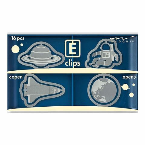 Скрепки Midori E-Clips Space (16 шт)