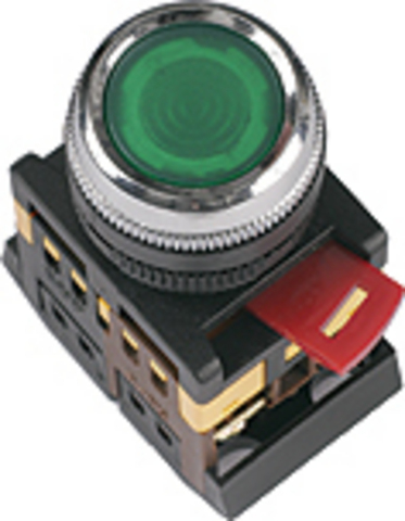 Кнопка ABLFS-22 синий d22мм неон/230В 1з+1р TDM
