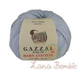 Пряжа Gazzal Baby Cotton 3429 светло-голубой