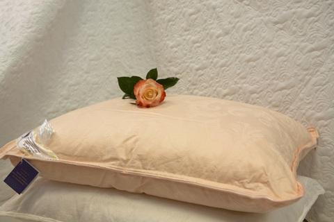 Подушка шелковая  Elisabette Элит 50x70 1кг - персиковая