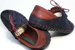 Мужские туфли мокасины со шнурками Luciano Bellini 23406-00 LNBN.