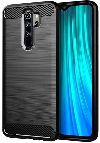 Чехол Xiaomi Redmi Note 8 Pro цвет Black (черный), серия Carbon, Caseport