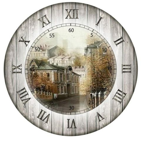 017-5701 Декупажная карта Циферблат Московская осень