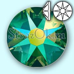 Купить стразы холодной фиксации Xirius Emerald AB зеленые 8+8