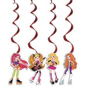 Подвеска бумажная Party Girls-спираль 16см 4шт