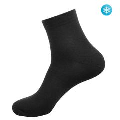 S05 носки женские утепленные, темно-серые (10шт)