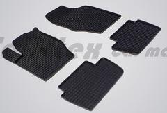 """Резиновые коврики """"Сетка"""" для Citroen C4 (2008-2011)"""