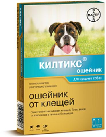 Байер Килтикс ошейник для средних собак от блох и клещей 48см
