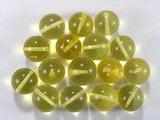 Бусина из янтаря прозрачного, лимонного, шар гладкий 12-13 мм