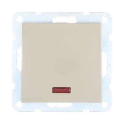 Выключатель одноклавишный, c индикатором (схема 1L) 16 A, 250 В~. Цвет Бежевый. LK Studio LK60 (ЛК Студио ЛК60). 860201