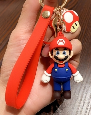 NS: Брелок New Super Mario Bros Keychain Cartoon (красный)